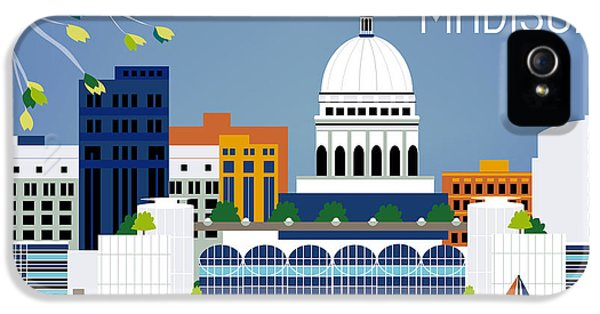 Madison Wisconsin Horizontal Skyline IPhone 5s Case