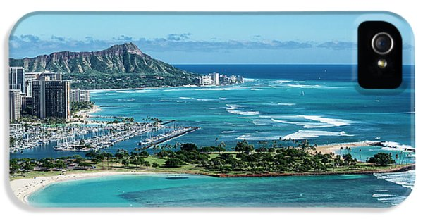 Helicopter iPhone 5s Case - Magic Island To Diamond Head by Sean Davey