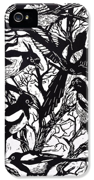 Magpies IPhone 5s Case by Nat Morley