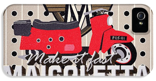 1950s iPhone 5s Case - Maicoletta Scooter Advertising by Jorgo Photography - Wall Art Gallery