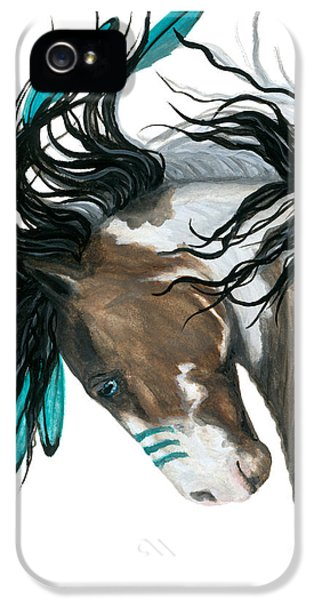 Horse iPhone 5s Case - Majestic Turquoise Horse by AmyLyn Bihrle