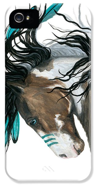 Majestic Turquoise Horse IPhone 5s Case by AmyLyn Bihrle