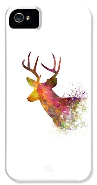Male Deer 02 In Watercolor IPhone 5s Case by Pablo Romero