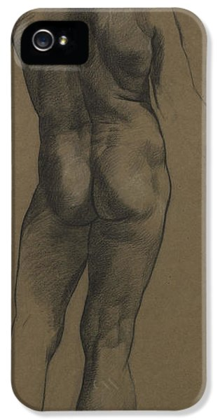 Etching iPhone 5s Case - Male Nude Study by Evelyn De Morgan