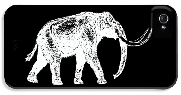 Mammoth White Ink Tee IPhone 5s Case by Edward Fielding