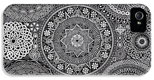 Vegetables iPhone 5s Case - Mandala Bouquet by Matthew Ridgway