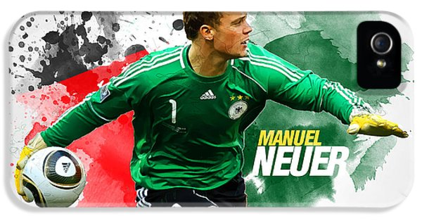 Manuel Neuer IPhone 5s Case by Semih Yurdabak