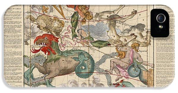 Pegasus iPhone 5s Case - Map Of The Constellations Cetus, Pegasus, Aquarius, Andromeda - Celestial Map - Antique Map by Studio Grafiikka