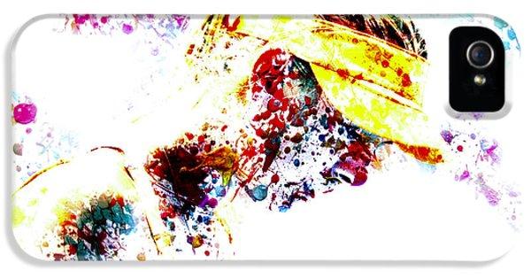 Maria Sharapova Paint Splatter 4p                 IPhone 5s Case by Brian Reaves