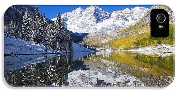 Mount Rushmore iPhone 5s Case - Maroon Lake And Bells 1 by Ron Dahlquist - Printscapes