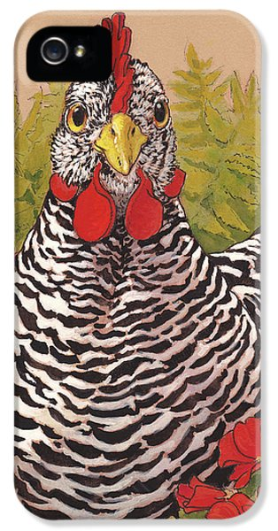 Matilda In The Geraniums IPhone 5s Case by Tracie Thompson