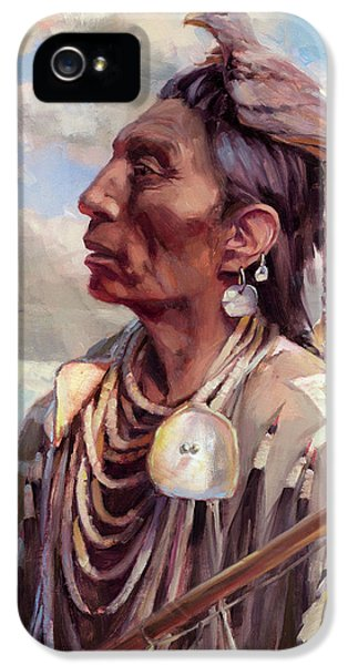 Hawk iPhone 5s Case - Medicine Crow by Steve Henderson