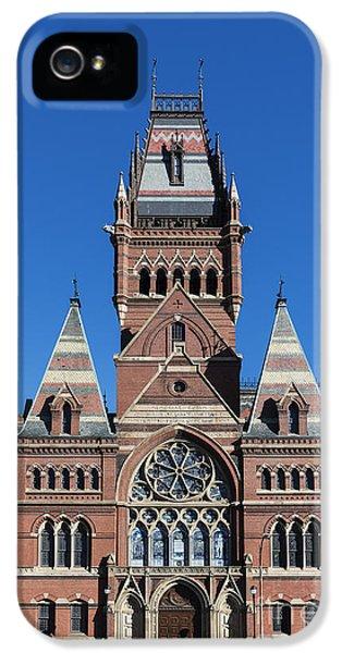 Harvard iPhone 5s Case - Memorial Hall Harvard by John Greim