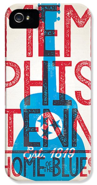 Memphis Tennessee - Home Of The Blues IPhone 5s Case by Jim Zahniser