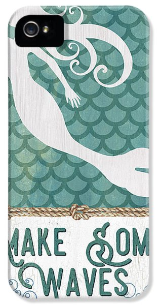 Extinct And Mythical iPhone 5s Case - Mermaid Waves 1 by Debbie DeWitt
