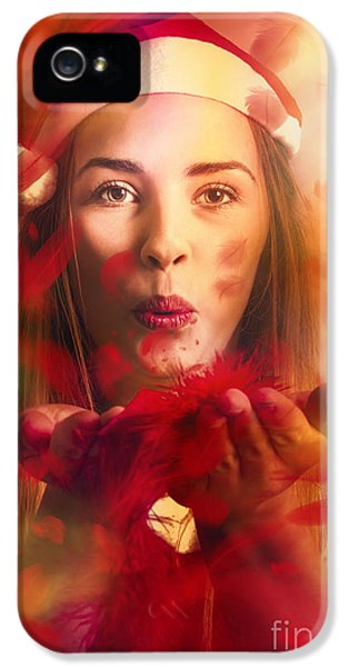 Merry Christmas Elf IPhone 5s Case by Jorgo Photography - Wall Art Gallery
