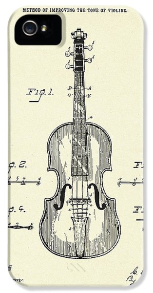 Violin iPhone 5s Case - Method Of Improving The Tone Of Violins-1888 by Pablo Romero