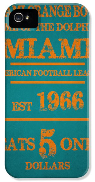 Miami Dolphins Sign IPhone 5s Case