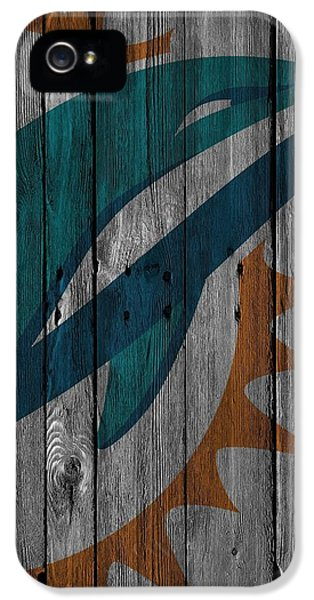 Miami Dolphins Wood Fence IPhone 5s Case
