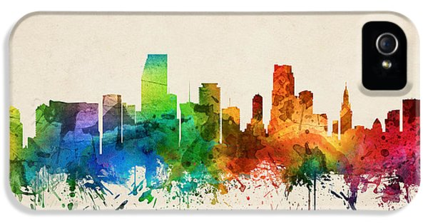 Miami Florida Skyline 05 IPhone 5s Case by Aged Pixel