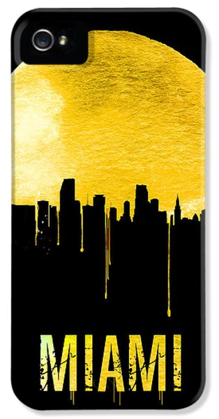 Miami Skyline Yellow IPhone 5s Case