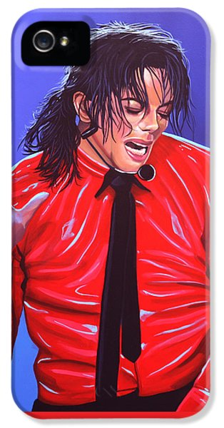 Michael Jackson 2 IPhone 5s Case by Paul Meijering