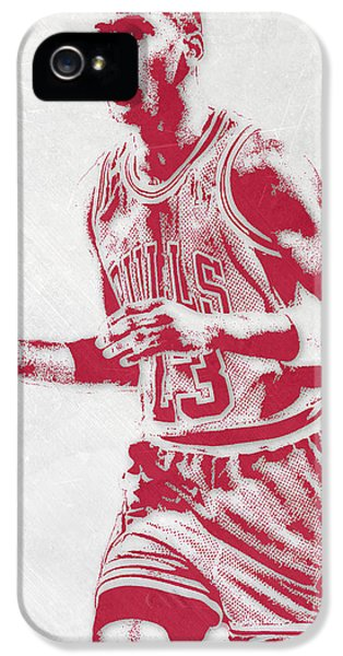 Michael Jordan Chicago Bulls Pixel Art 2 IPhone 5s Case by Joe Hamilton