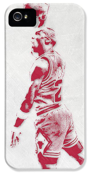 Michael Jordan Chicago Bulls Pixel Art 3 IPhone 5s Case by Joe Hamilton
