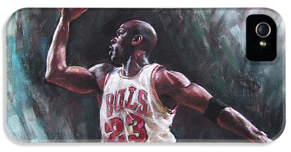 Bull iPhone 5s Case - Michael Jordan by Ylli Haruni