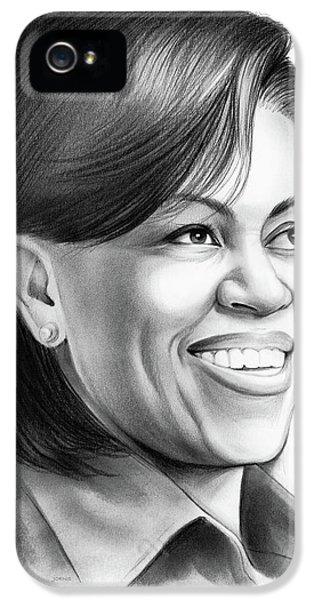 Barack Obama iPhone 5s Case - Michelle Obama by Greg Joens