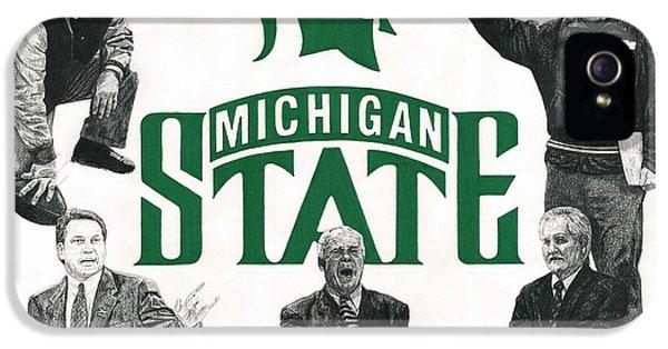 Biggie iPhone 5s Case - Michigan State Coaching Legends by Chris Brown