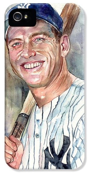 Mickey Mantle Portrait IPhone 5s Case
