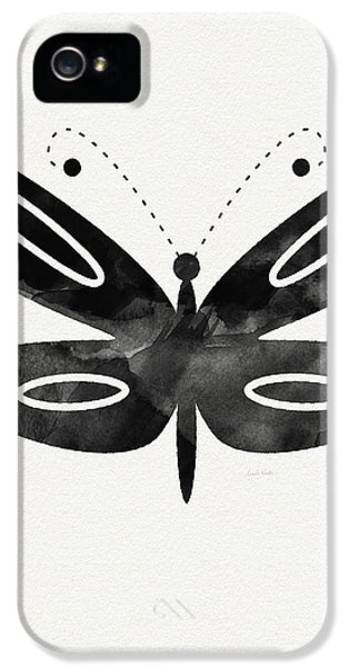 Butterfly iPhone 5s Case - Midnight Butterfly 1- Art By Linda Woods by Linda Woods