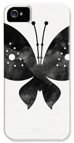 Butterfly iPhone 5s Case - Midnight Butterfly 2- Art By Linda Woods by Linda Woods