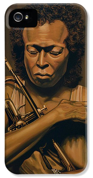 Trumpet iPhone 5s Case - Miles Davis Painting by Paul Meijering