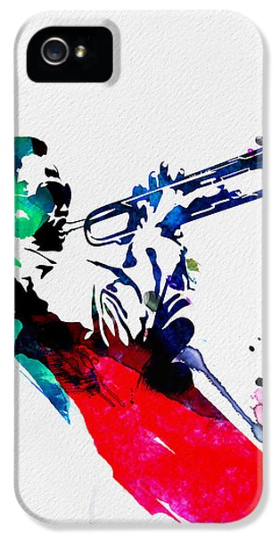 Jazz iPhone 5s Case - Miles Watercolor by Naxart Studio