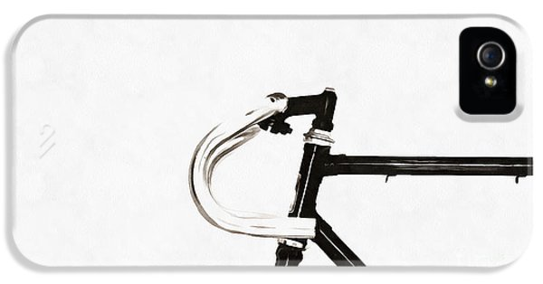 Bicycle iPhone 5s Case - Minimalist Bicycle Painting by Edward Fielding
