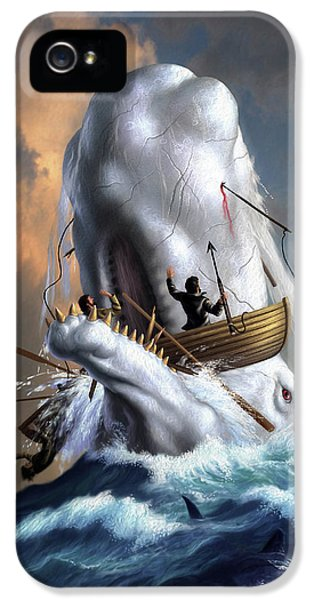 Sharks iPhone 5s Case - Moby Dick 1 by Jerry LoFaro