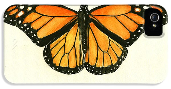 Monarch Butterfly IPhone 5s Case by Juan Bosco