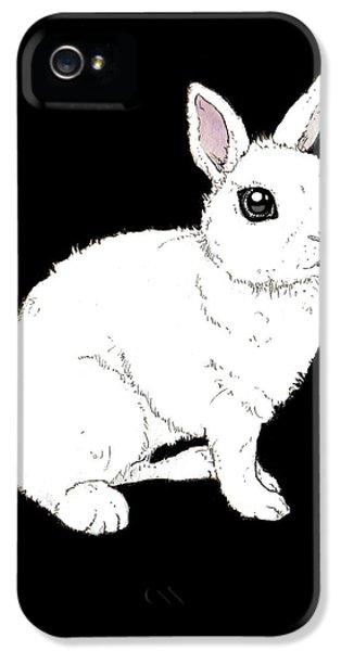 Monochrome Rabbit IPhone 5s Case by Katrina Davis