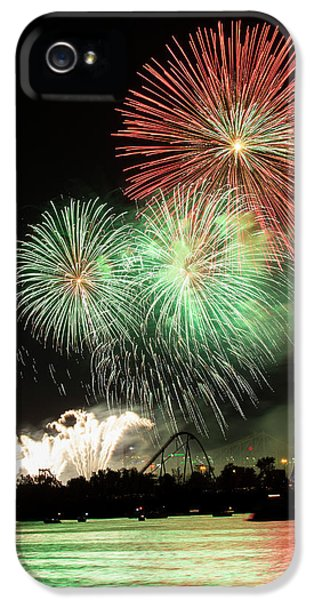 Montreal-fireworks IPhone 5s Case by Mircea Costina Photography