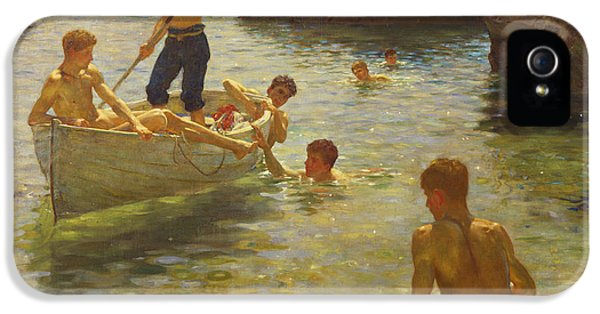 Boat iPhone 5s Case - Morning Splendour by Henry Scott Tuke