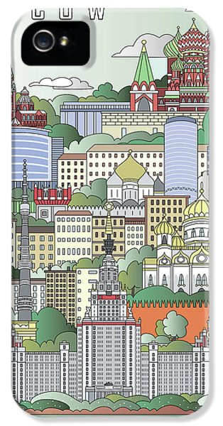 Moscow City Poster IPhone 5s Case by Pablo Romero