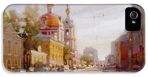 Moscow. Staraya Basmannaya Street IPhone 5s Case by Ramil Gappasov