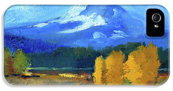 IPhone 5s Case featuring the painting Mount Hood by Nancy Merkle