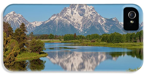 Mountain iPhone 5s Case - Mount Moran On Snake River Landscape by Brian Harig