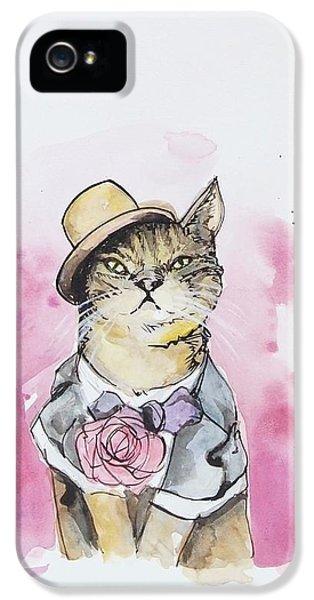 Cat iPhone 5s Case - Mr Cat In Costume by Venie Tee