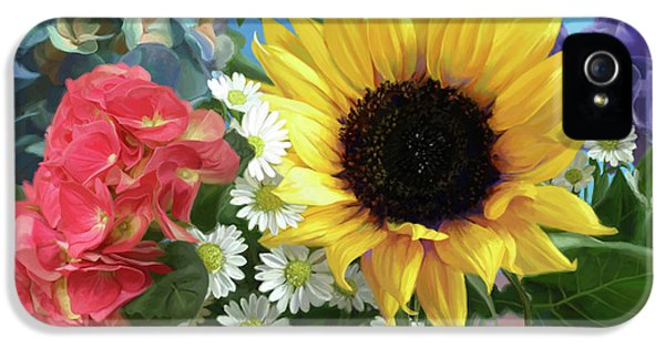 Daisy iPhone 5s Case - Multicolor Flowers by Lucie Bilodeau