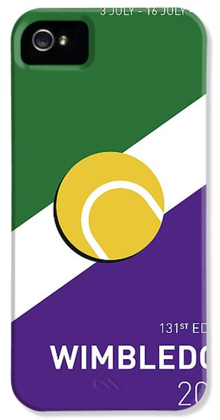 My Grand Slam 03 Wimbeldon Open 2017 Minimal Poster IPhone 5s Case