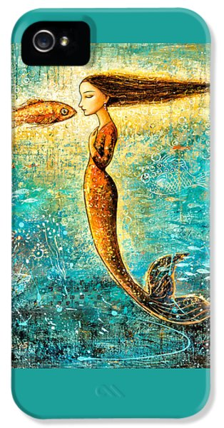 Extinct And Mythical iPhone 5s Case - Mystic Mermaid Iv by Shijun Munns